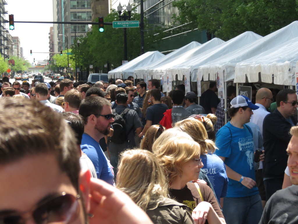 west loop craft beer festival faded crowd shot