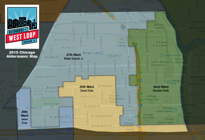 neighbors of west loop aldermanic map