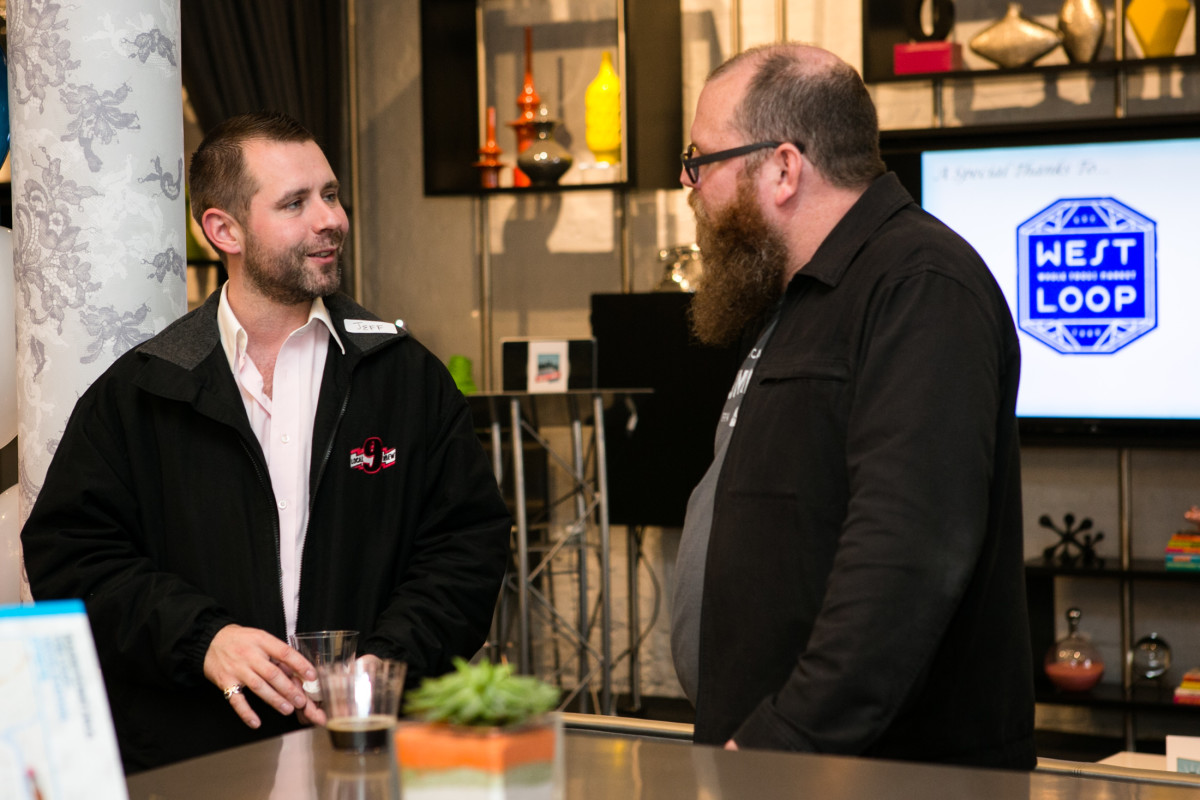 Jeff Johnson and Brian Buckman, brewer and founder of the West Loop's Illuminated Brew Works.