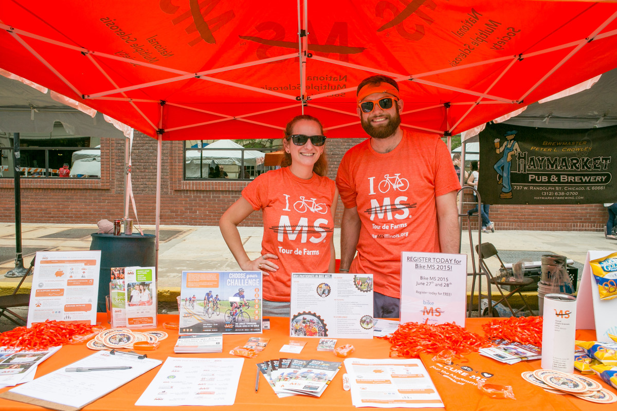 Our partners from the MS Society  had a tent at #WLCBF and signed up four people to the NOWL Bike MS Team.