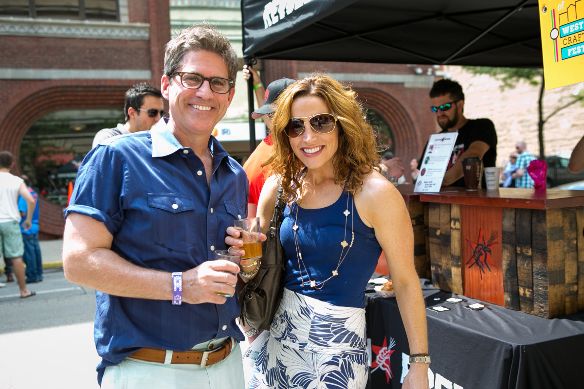 Beer lovers enjoying the summer weather at #WLCBF.