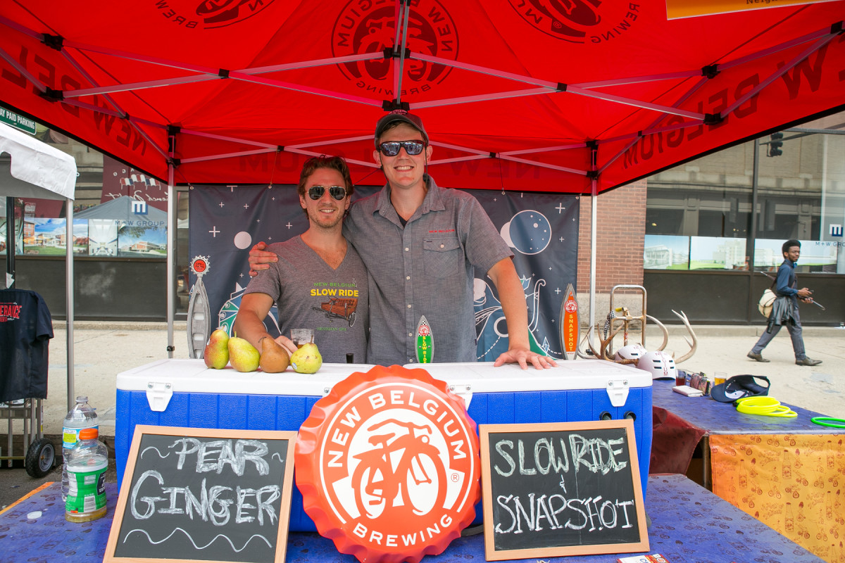 Golden Brewer Sponsor, New Belgium Brewing, featured brews perfect for a hot summer day.