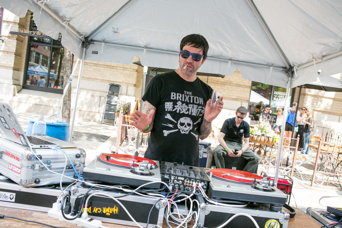 DJ Johnny Walker spun the vinyl at #WLCBF.