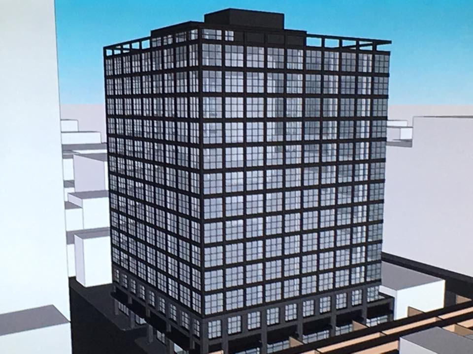 Rendering of proposed office building at 801 W. Lake