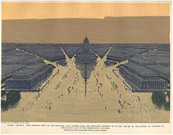 Civic Center Plaza from 1909 Plan of Chicago